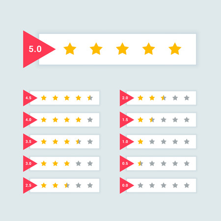feedback or star rating minimal symbol design Reklamní fotografie - 114937437