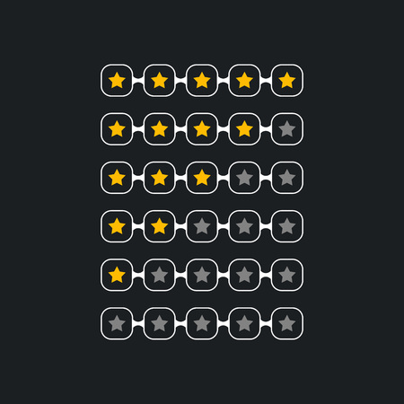creative star rating symbol for black theme Illustration