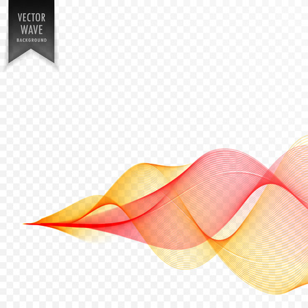 smoky yellow red wave background