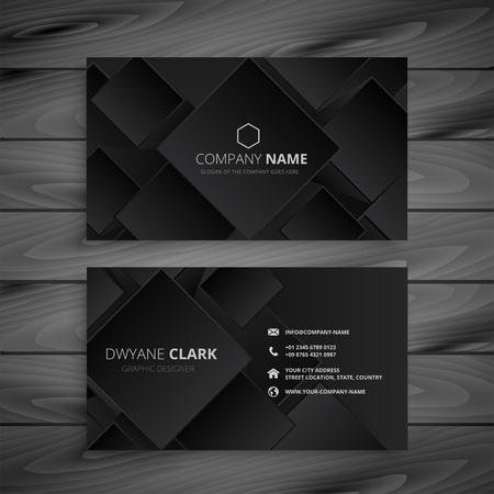 dark black business card design Stock Illustratie