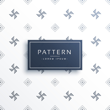 swastik symbol minimal pattern background Illustration