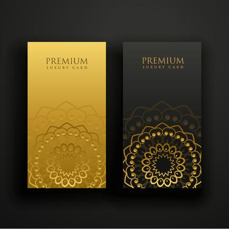 luxury mandala business card design Stock Vector - 105421319