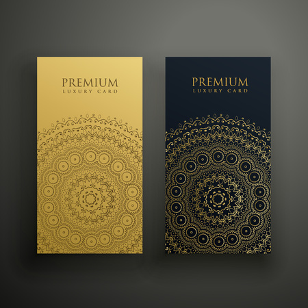 mandala premium business card design
