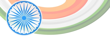 indian flag creative banner design Illustration