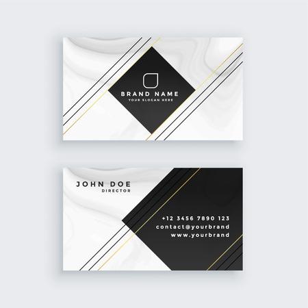 plantilla de diseño de tarjeta de visita profesional Ilustración de vector