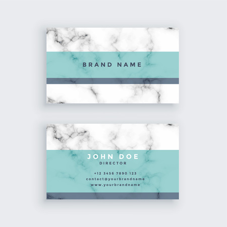 marble business card design with pastel color