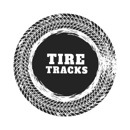 tire track circle background design Vettoriali