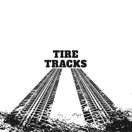 abstract dirty tire track marks Illusztráció