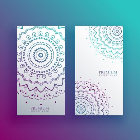 mandala card design banners set Stock Vector - 106857764