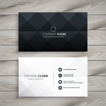 conception de carte de visite moderne en noir et blanc