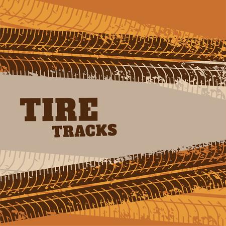 sfondo astratto di segni di traccia di pneumatici