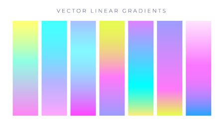 vibrant colorful hologram color gradients