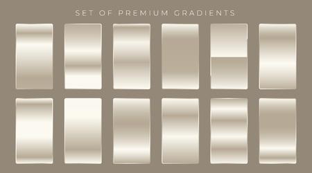 shiny gradients set background design