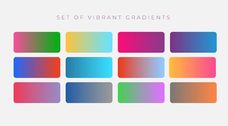 vibrant set of colorful gradients Illustration