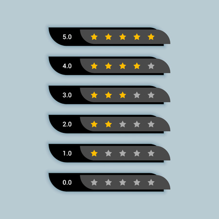 star rating creative symbol for black theme Banque d'images - 110488607