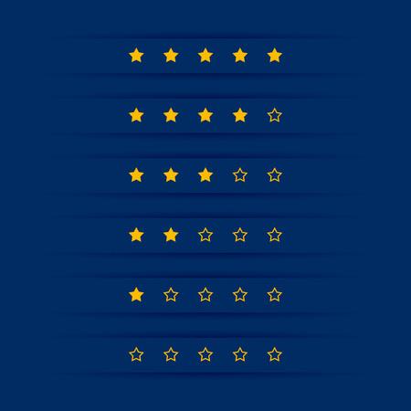 simple star rating symbol design Banque d'images - 110488625
