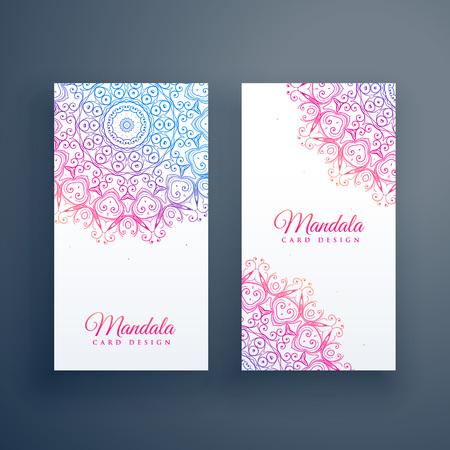 beautiful colorful mandala card design Stock Vector - 107945505