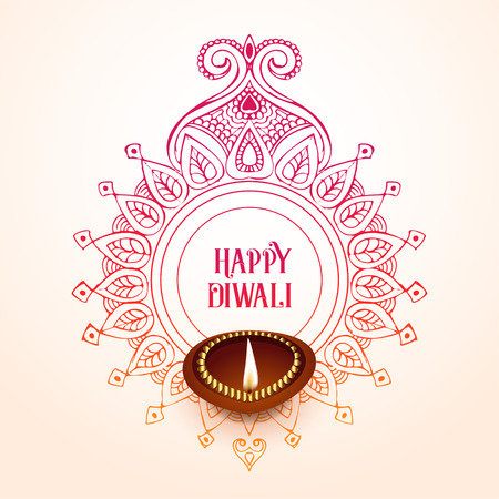 creative happy diwali background design Imagens - 110261073