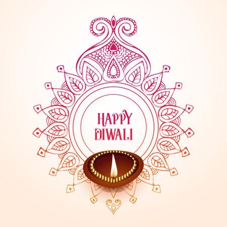 creative happy diwali background design