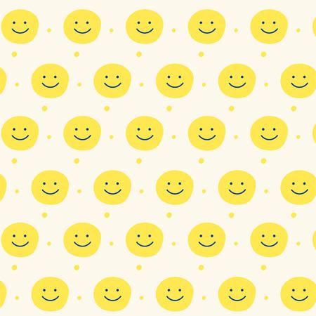 yellow smile pattern design background