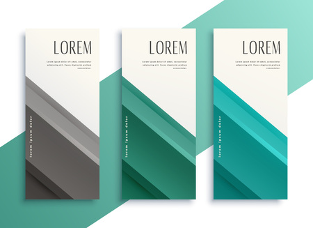 geometric business style vertical banners set