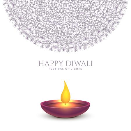 happy diwali beautiful background design Illustration