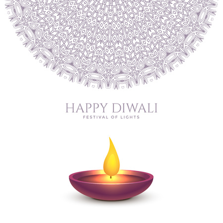 happy diwali beautiful background design Illustration