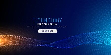 techology particle mesh background design