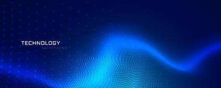 abstract blue technology banner design Vettoriali