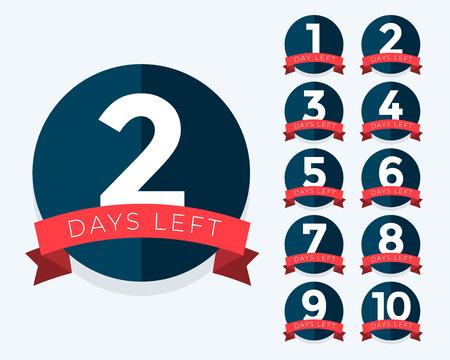 número de días restantes contador de placas