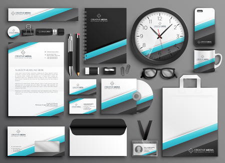 business stationery collateral set for your brand Vectores