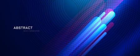 abstrakter blauer Hintergrund mit leuchtenden Linien Vektorgrafik