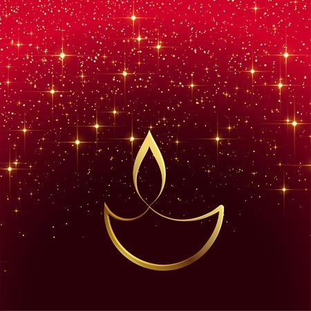 shiny diwali design with sparkles Illustration