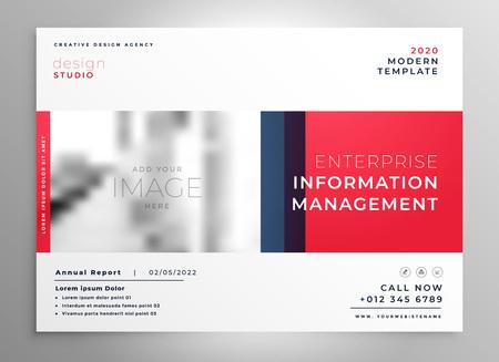 brochure presentation design template in red color Vector Illustration