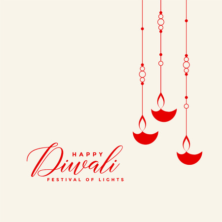 awesome red hanging diwali diya background