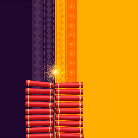 hindu diwali festival cracker background Illustration