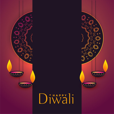diwali festival greeting background with text space Illustration