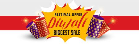 stylish happy diwali sale banner design Vektorové ilustrace