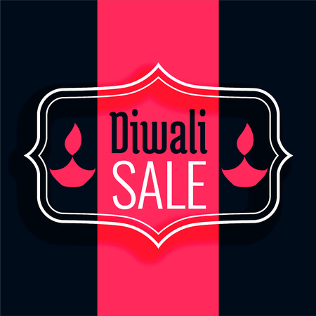 happy diwali sale background in flat colors Illustration