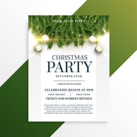 christmas holiday party flyer design template Illustration