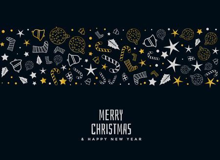 diseño de tarjeta decorativa feliz navidad