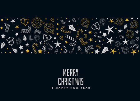 vrolijk kerstfeest decoratief kaartontwerp