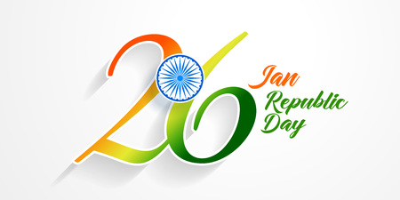26th january republic day of india background Ilustração