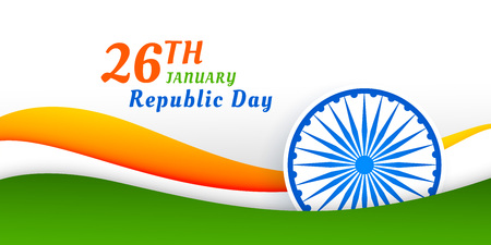 happy indian republic day banner design Illustration
