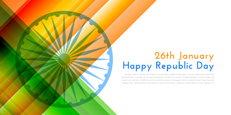 happy republic day indian flag illustration background Illustration