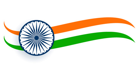 flag of india in wavy trocolor style