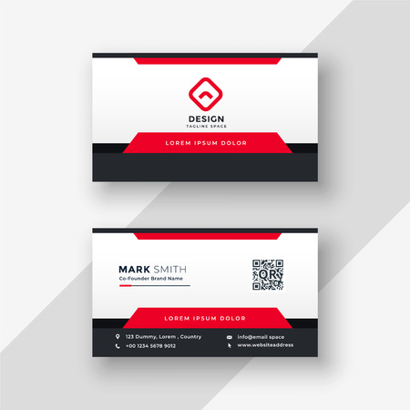 professional red business card design Illustration