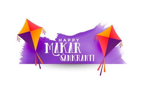 makar sankranti background with kites
