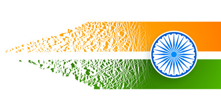 indian flag abstract design with particle effect