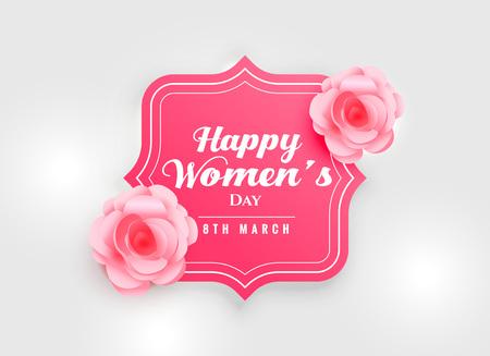 feliz día de la mujer fondo con flor rosa rosa